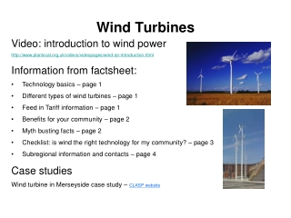 Wind Powered Generators Impact on Land Ownership
