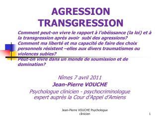 AGRESSION  TRANSGRESSION