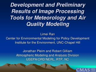 Limei Ran Center for Environmental Modeling for Policy Development