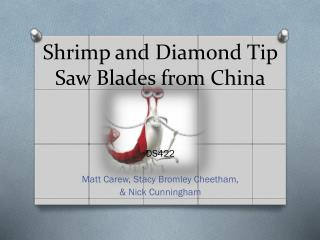 Shrimp and Diamond Tip Saw Blades from China