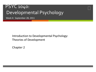 Chapter 2: Theories of Development