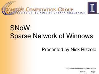 SNoW: Sparse Network of Winnows