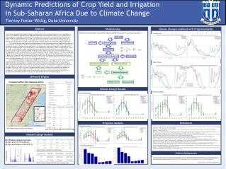 Dynamic Predictions of Crop Yield  and Irrigation  in  Sub-Saharan Africa Due to Climate  Change