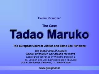 The European Court of Justice and Same Sex Pensions