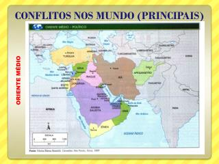 CONFLITOS NOS MUNDO (PRINCIPAIS)