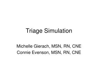 Triage Simulation