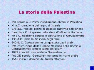 La storia della Palestina