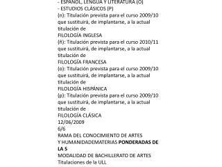 . RAMA  DE CONOCIMIENTO DE CIENCIAS DE LA SALUD MATERIAS  PONDERADAS DE LA