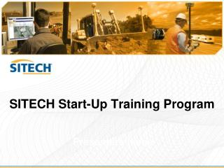 SITECH Start-Up Training Program