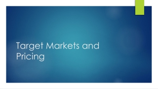 Planning for Target Markets in Economic Development