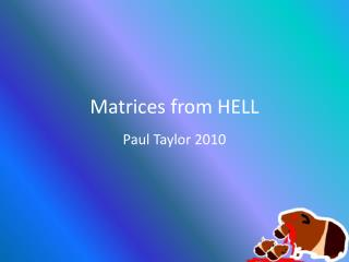 Matrices from HELL