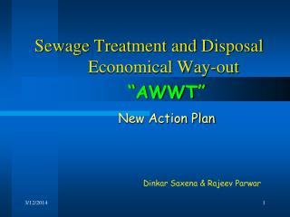 Sewage Treatment and Disposal   Economical Way-out