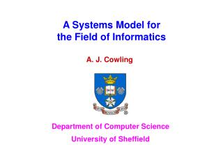 A Systems Model for  the Field of Informatics