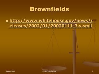 Brownfields