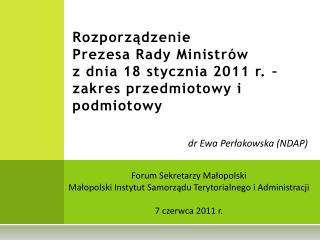 dr Ewa Perłakowska (NDAP)