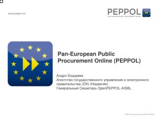 Pan-European Public Procurement  Online ( PEPPOL )