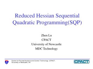 Reduced Hessian Sequential Quadratic Programming(SQP)