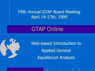 GTAP Online