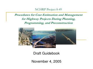 Draft Guidebook  November 4, 2005