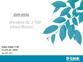 DIR-865L Wireless AC 1750 Cloud Router