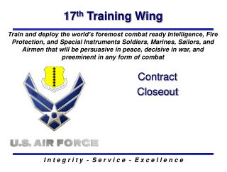 17 th  Training Wing