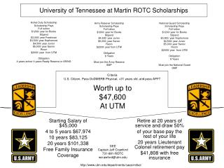 University of Tennessee at Martin ROTC Scholarships