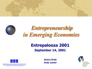 Entrepreneurship in Emerging Economies