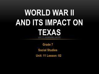 World War II and its impact on Texas