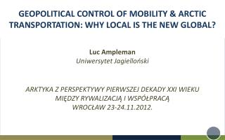 Luc Ampleman Uniwersytet Jagielloński