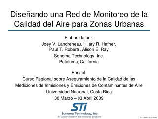 Diseñando una Red de Monitoreo de la Calidad del Aire para Zonas Urbanas