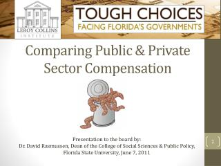 Comparing Public & Private Sector Compensation