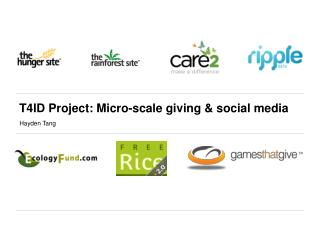 T4ID Project: Micro-scale giving & social media