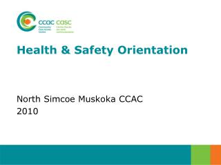 Health & Safety Orientation