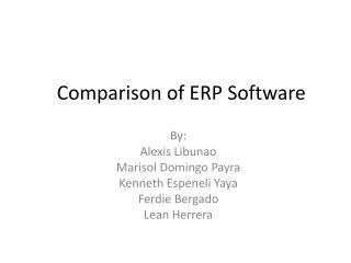 Comparison of  ERP Software