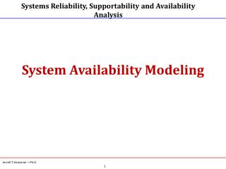 System Availability Modeling