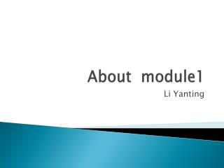 About  module1