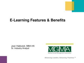 E-Learning Features & Benefits