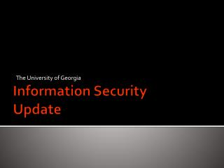 Information Security Update