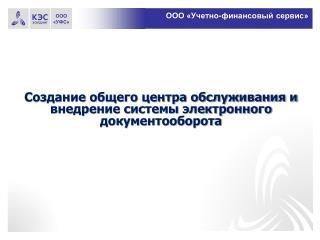 ООО «Учетно-финансовый сервис»