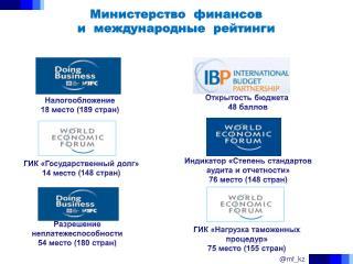 Министерство  финансов  и  международные  рейтинги
