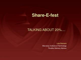 TALKING ABOUT 20%....