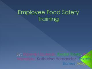 Employee Food Safety Training