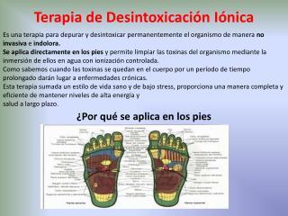 Terapia  de  Desintoxicación Iónica