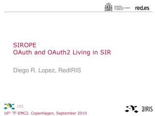 SIROPE OAuth and OAuth2 Living in SIR