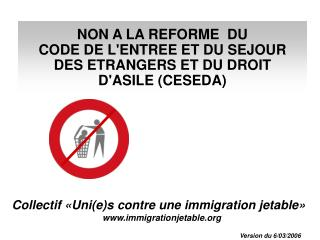 Collectif «Uni(e)s contre une immigration jetable» immigrationjetable