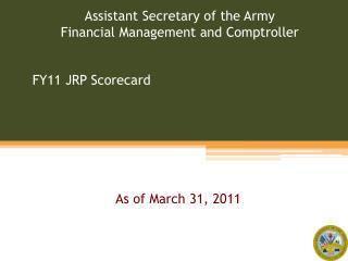 FY11 JRP Scorecard