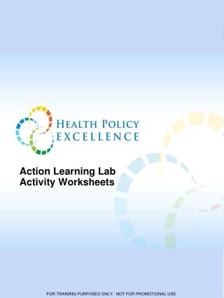 Action Learning Lab  Activity Worksheets