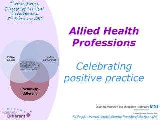Allied Health Professions Celebrating  positive practice