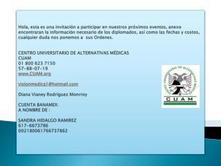 NATUROPAT�A   INICIA 7 DE SEPTIEMBRE EN CENTROMEDICO S.XXI