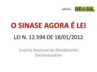 LEI N. 12.594 DE 18/01/2012